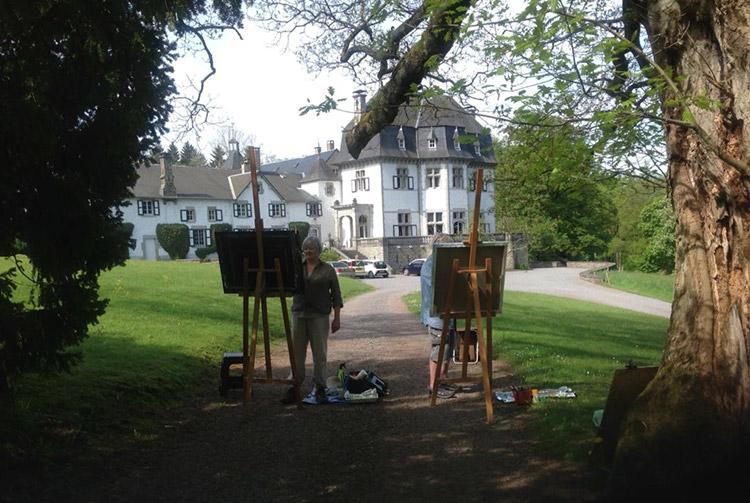 Schildercursus op Chateau de Grimonster